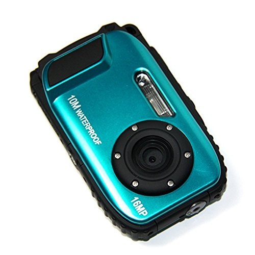 KINGEAR Cameras Underwater Waterproof Zoom Blue