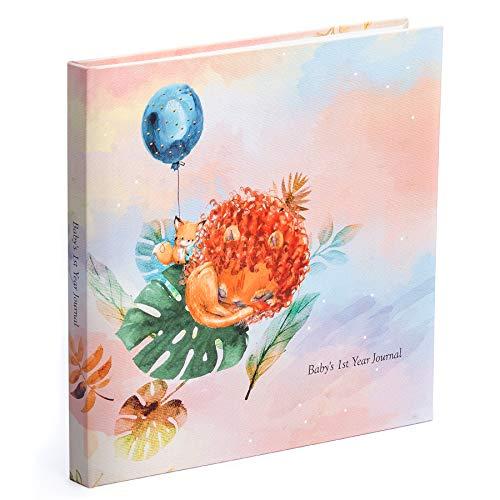 Baby Journal and Photo Album - Baby First Year Memory Book - Baby Jungle Keepsake