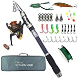 Fishing Rod and Reel Combo - Telescopic Fishing Pole Spinning Reels Fishing Gear