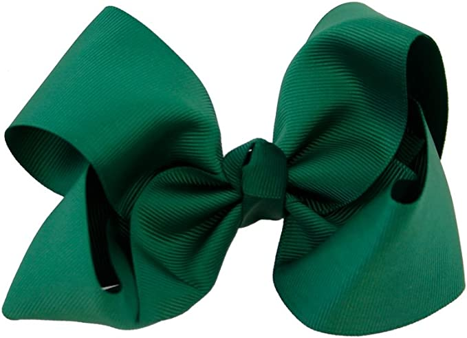 Green Boutique hairbow Green Hair Bow Clip Girls Big Green bows Big Green hair bows Large Green hair bows Sage Green ponytail bow