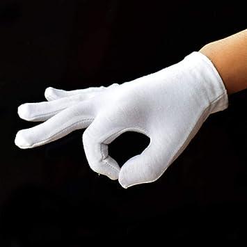 GBSTA Guantes Blancos 2 Piezas Guantes ceremoniales Blancos de algodón 100% para Hombres y Mujeres Servir Camareros/Conductores/Guantes de joyería,XL: Amazon.es: Bricolaje y herramientas