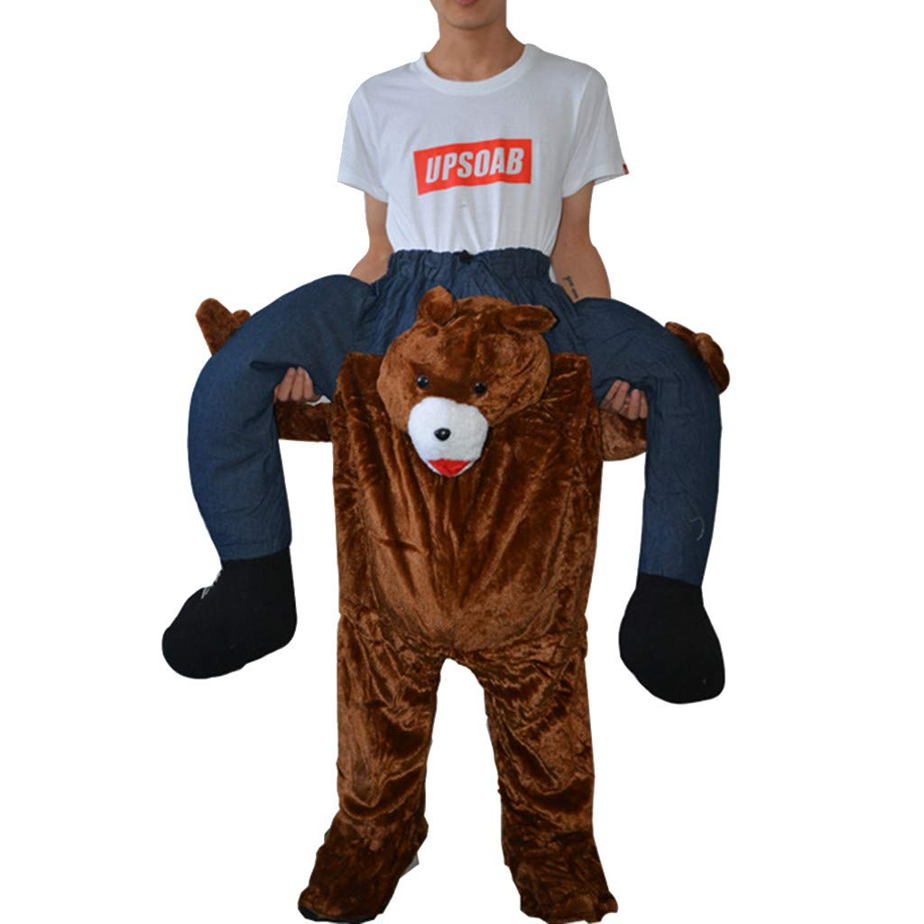 Unisex Piggy Back Funny Piggy Back Leggings Cycling Pants Stage Costumes