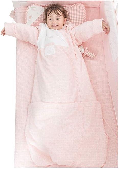 WDXIN Saco De Dormir Bebe Bebe Crecer Saco De Dormir Niño Edredón Anti-Patada Otoño E Invierno De Espesor Manga Desmontable Desmontable Más Largo,Pink,110 * 47Cm: Amazon.es: Deportes y aire libre
