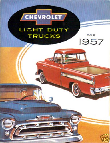 (1957 CHEVROLET PICKUP & TRUCK DEALERSHIP SALES BROCHURE - CHEVY ADVERTISMENT LITERATURE 57)