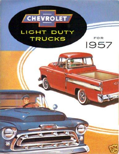 1957 CHEVROLET PICKUP & TRUCK DEALERSHIP SALES BROCHURE - CHEVY ADVERTISMENT LITERATURE 57 ()
