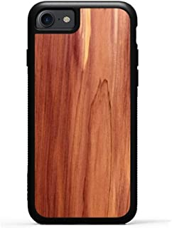 product image for Carved iPhone 8 Case/iPhone 7 Case Cedar Wood Traveler Case, Unique Real Wooden Phone Cover (Rubber Bumper, Fits Apple iPhone 8, Fits Apple iPhone 7)