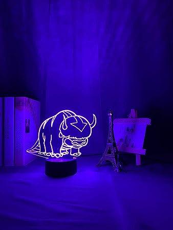 3D Night Light Avatar The Last Airbender Legend of Aang Appa Figure Kid Led Lamp