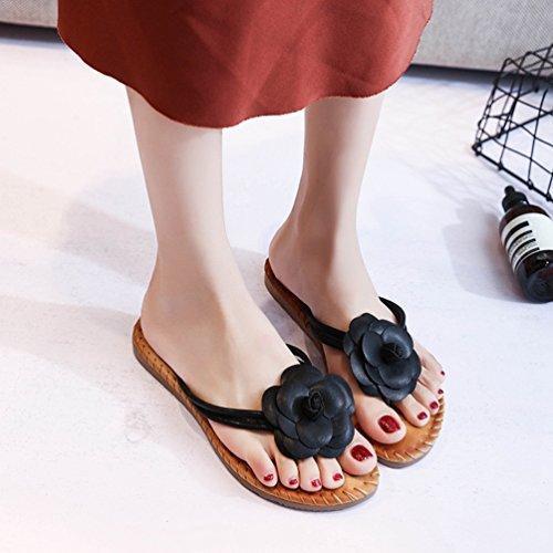 Sandalias Negro de JITIAN Mujer Sintético AqwCa6F