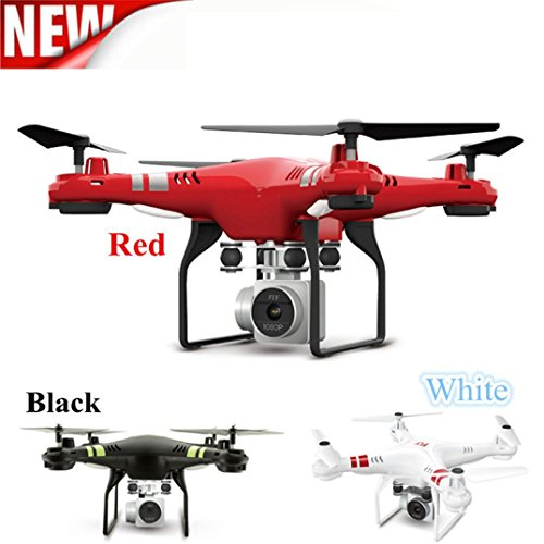 YJYdada 2.4G Altitude Hold HD Camera Quadcopter RC Drone Wifi FPV Live Helicopter Hover (Red)