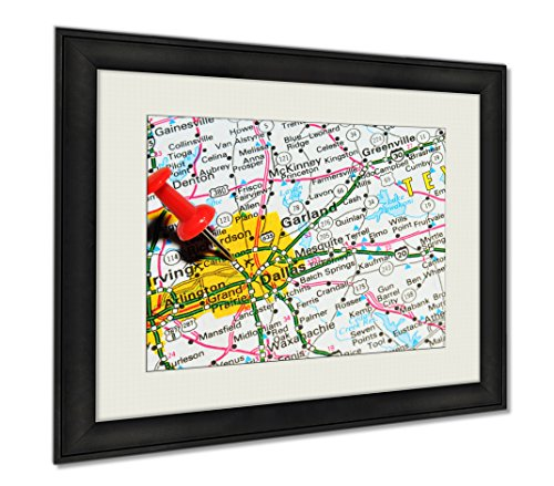 Ashley Framed Prints Dallas Texas, Wall Art Home Decoration, Color, 30x35 (frame size), - Dallas Airport Locations