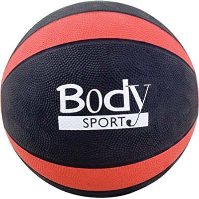 Body Sport Medicine Balls with Exercise Guide, 10-Pound, Red by WBC Group, LLC