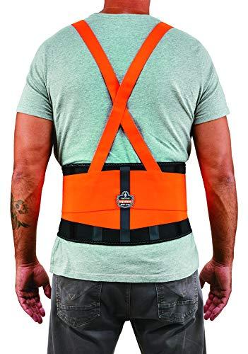 Ergodyne ProFlex 100HV Economy Hi-Vis Back Support Belt, Large, Orange by Ergodyne (Image #3)