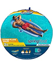 SwimWays Spring Float SunCatcher Inflatable Pool Lounger with Hyper-Flate Valve