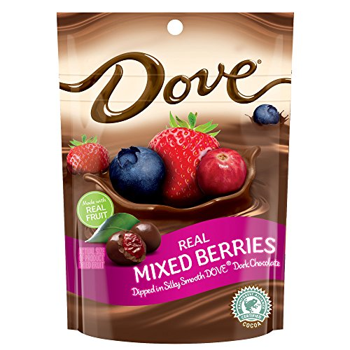 DOVE Fruit Dark Chocolate With Real Mixed Berries 6-Ounce Pouch (Pack of 8)