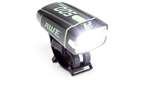 AWE® awe500tm 1 x Cree LED recargable por USB luz delantera – Foco ...