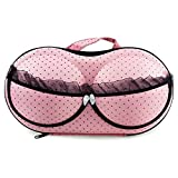 CHUANGLI Travel Portable Bra Underwear Lingerie Case Organizer Storage Box With Zipper Handle