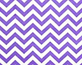 Fabric Shower Curtain - ZIGZAG THISTLE - 72'' Width x (72'', 74'', 78'', 84'', 90'', 96'') Length