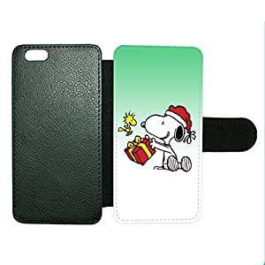 Case Fun Case Fun Christmas Snoopy and Woodstock Celebrate Faux Leather Wallet Case Cover for Apple iPhone 6 4.7 inch