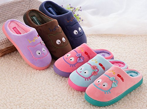 Cattior Mens Inverno Pantofole Calde Pantofole Morbide Blu Navy
