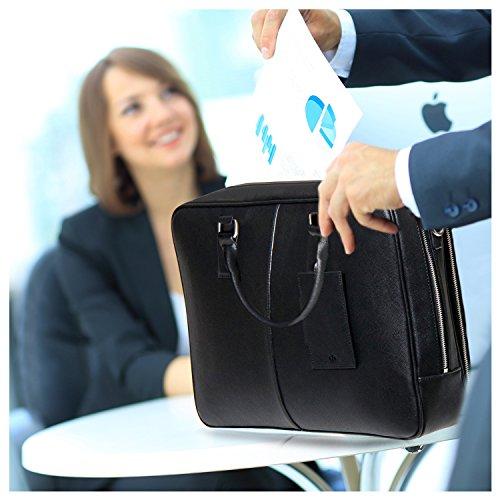 BFB Laptop Messenger Bag - Designer Business Computer Bag or Briefcase for Men - Ideal Commuter Bag for Work and Travel - Black by My Best Friend is a Bag (Image #2)