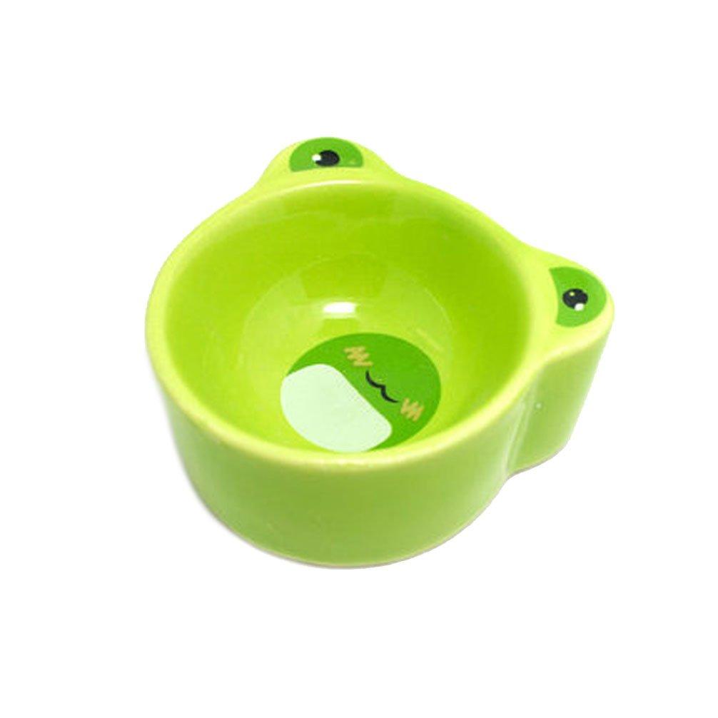 Emours piccolo animale in ceramica per alimenti ciotole d' acqua con motivo animali criceto ratti Chinchilla e altri piccoli animali, il colore può varia Pet accessories