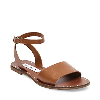 d86952241a82c Steve Madden Womens Danny Open Toe Studded Flat Sandals Tan 6 Medium (B,M