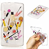Qiaogle Phone Case - Soft TPU Silicone Case Cover Back Skin for Lenovo A2010 (4.5 inch) - HC10 / Lip gloss + eyebrow pencil