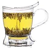 loose tea steeper teapot - GROSCHE Aberdeen Tea Steeper, Teapot and Tea Infuser, 17.7 oz. 525 ml with Removable Filter, BPA-Free & Food-safe Tritan