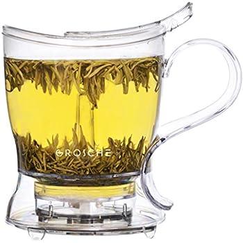 GROSCHE Aberdeen Tea Steeper, 1000 ml 34 oz, Teapot and Tea Infuser, BPA-Free & Food-safe Tritan