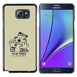 KLONGSHOP // Cubierta de piel con cierre a presión Shell trasero duro de goma Protección Caso - Cálmate - Samsung Galaxy Note 5 5th N9200 //