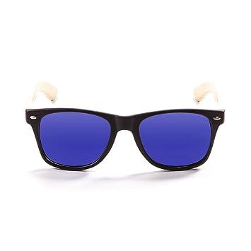 Ocean Sunglasses beach wood - lunettes de soleil en Bambou - Monture : Bambou - Verres : Revo Bleu (50001.1) ev5pjC