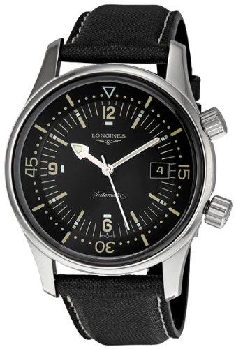 Longines Men's L3.674.4.50.0 Sports Legends Black Dial Watch