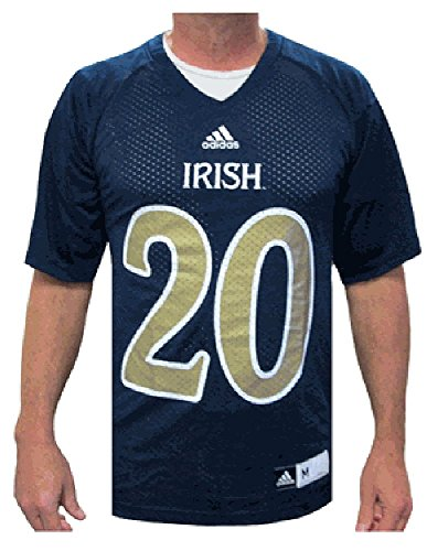 adidas Notre Dame Fighting Irish #20 Blue Replica Performance Football Jersey (M=40)