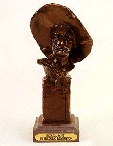 The Sergeant Solid Bronze Handmade Sculpture By Frederic Remington 11 Inches High