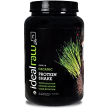 IdealRaw, Organic Protein Shake, Plant Based Protein Powder, Vanilla, 30 Servings