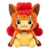 Pokemon Center Japan Original Rokon poncho Pikachu Stuffed Plush