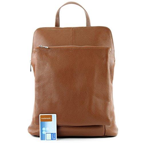 modamoda de - Made in Italy - Bolso mochila  para mujer Dunkelcamel
