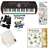 Homeschool Music - Learn to Play the Piano Pack (Nursery Rhyme Favorites Bundle) - Includes Casio SA76 Keyboard w/Adapter, learn 2 Play DVD/Book, Books & All Inclusive Learning Essentials