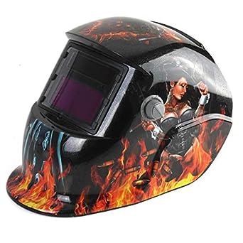 Revolver Girl Solar Auto oscurecimiento Soldadura Soldadura Arco Tig Mig Casco Máscara COD: Amazon.es: Industria, empresas y ciencia