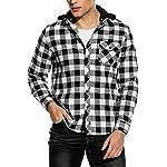 Fashion Shopping COOFANDY Men's Sweatshirt Hipster Gym Long Sleeve Drawstring Hooded Plaid Jacquard