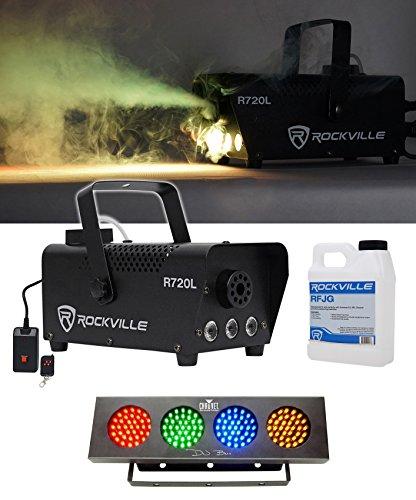Rockville R720L LED Fog/Smoke Machine w/Remote + DJ Bank RGBA LED Light