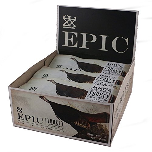 Epic All Natural Meat Bar, 100% Natural, Turkey, Almond & Cranberry, 1.5 ounce, 12 Count
