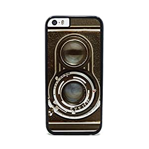 Insomniac Arts - Vintage Twin Reflex Camera- iPhone 6 Cover, Cell Phone Case - Black Plastic Sides
