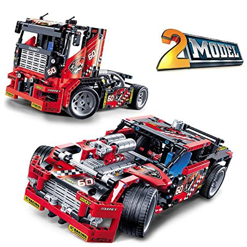 - Yyz Technology Series Racing Model Sports car boy Puzzle Building Blocks Toy with The Same Paragraph Two Forms Conversion Birthday Gift