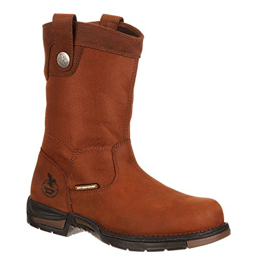 Georgia Botte Homme Gb00017 10 Wellington Athènes Marron