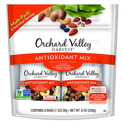 ORCHARD VALLEY HARVEST Antioxidant Mix, Non-GMO, No Artificial Ingredients, 1 oz, 8 count (Pack of 8)