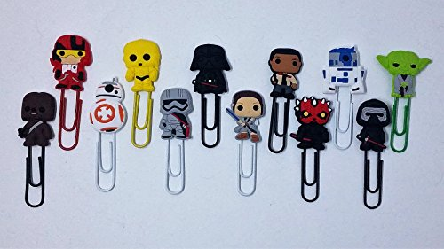 Set of 12 Star Wars Novelty Paperclips - Paper Clips - Book Markers by Kid Rainbow House