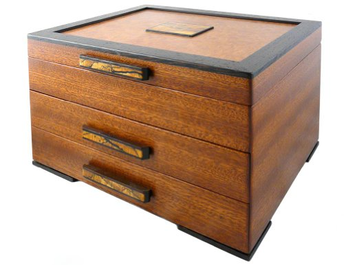 Modern Artisans Urban Craftsman American Made Heartwood Jewelry Box with 2 ()