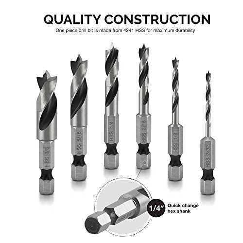 Buy hex shank wood drill bits