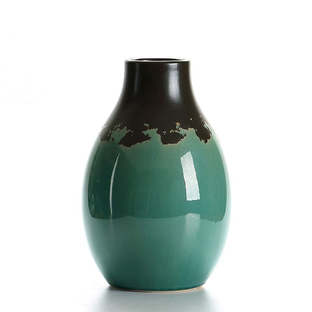セラミック花瓶手作り装飾花瓶/家の装飾に適している/緑 QYSZYG (サイズ さいず : 8×18×28cm) B07QYYS854  8×18×28cm